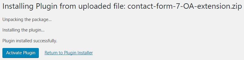 contact form 7 screenshot