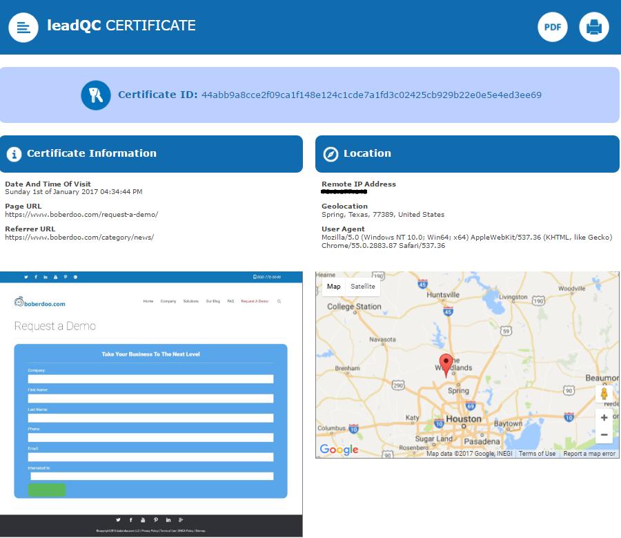 LeadQC certificates