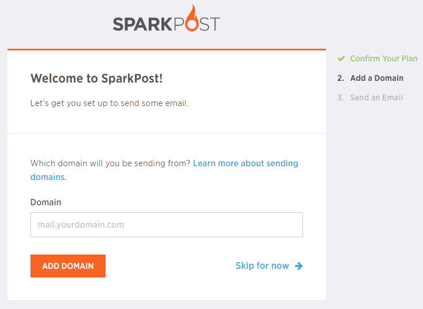 integrate sparkpost