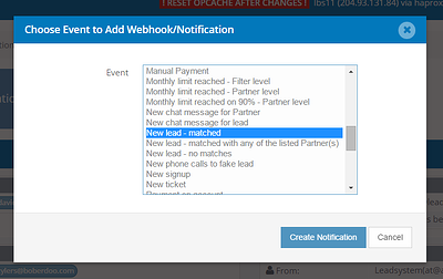 Webhooks/Notifications