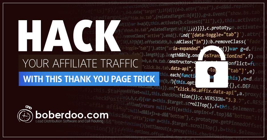 thank you page trick boberdoo.com