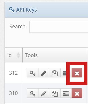 API Key Delete